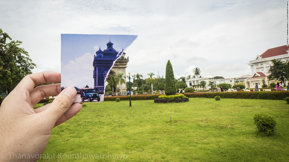 """""""Patuxai"""" means """"Victory Gate."""" Situated in Patuxay Park, it is dedicated to the Laotians who died in the battle for independence from France."""