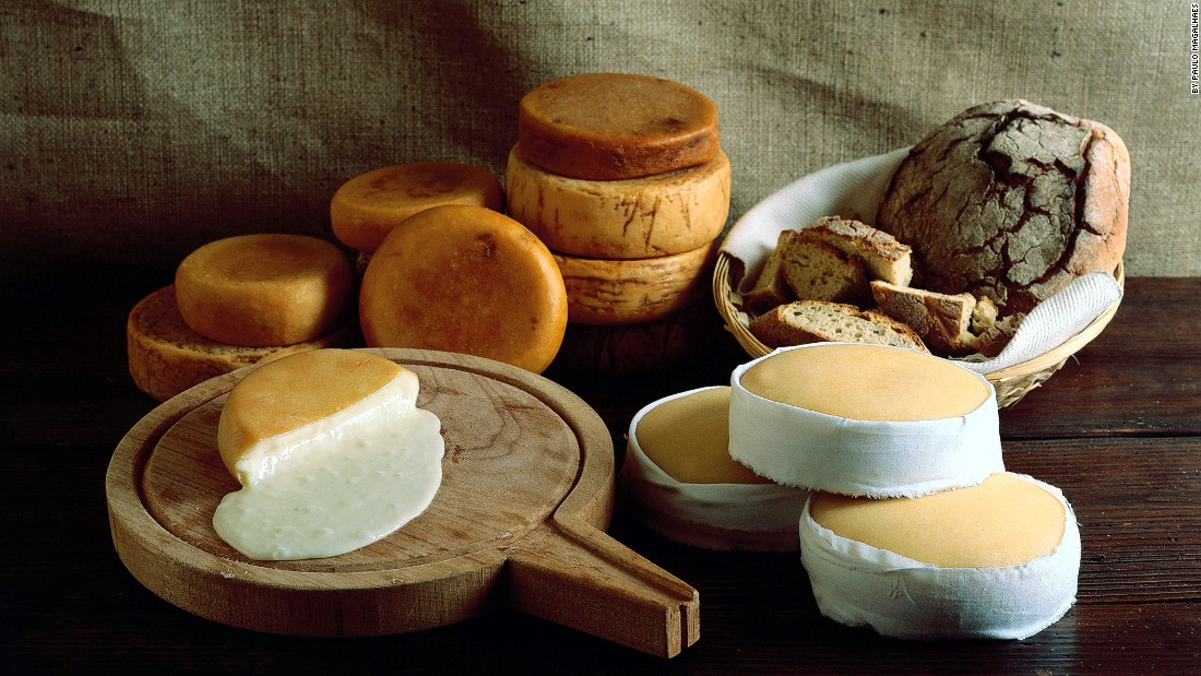 Some of the best cheeses (or queijo) in Portugal include amarelo da Beira Baixa -- a herby goat-and-sheep-milk mix that was once judged the world's greatest cheese -- and the creamy Serra da Estrela from the milk of ewes.