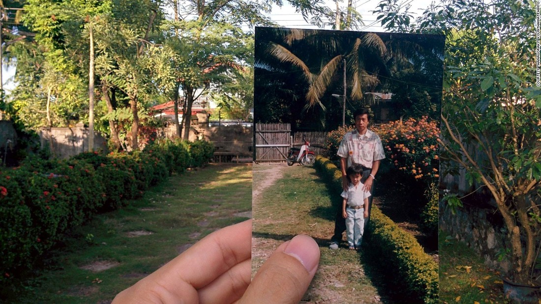 """""""This is a photo of my father with myself,"""" he says, adding: """"I believe so ... well it was 20 years ago and we have three siblings!"""""""