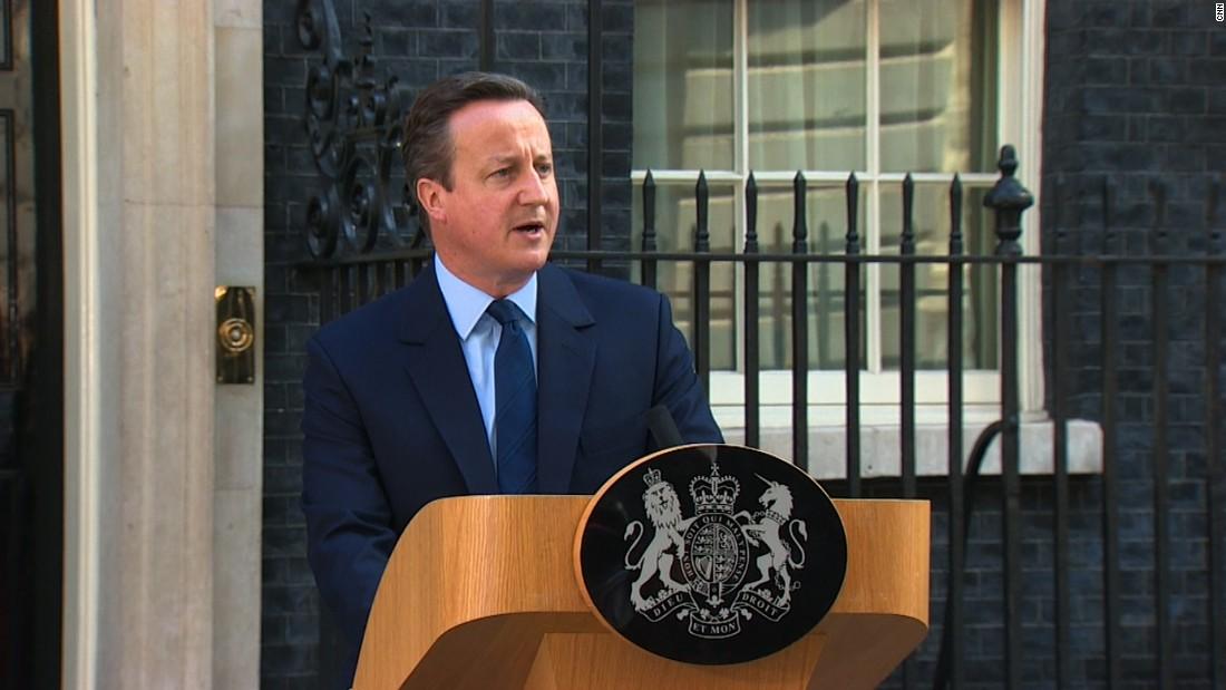 British Prime Minister David Cameron To Resign