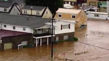 Flooding in Richwood, West Virginia.