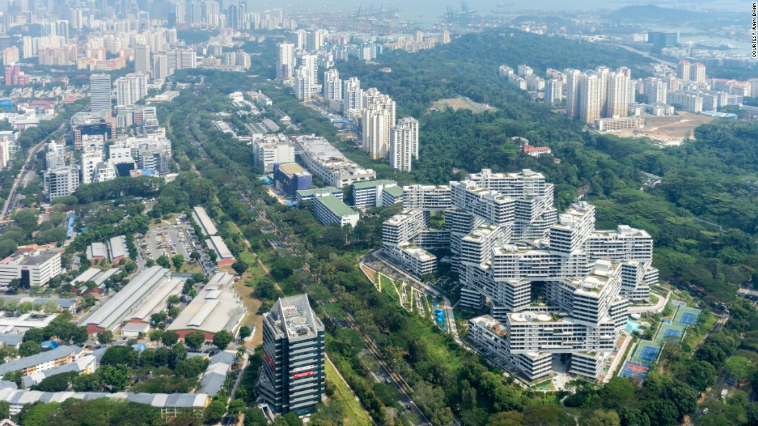 """Renowned British architect Peter Cook -- who was one of the jury that decided the award -- called the building a """"game changer.""""  """"The Interlace makes a major urban statement (and) gives you a horizontal city,"""" he said."""