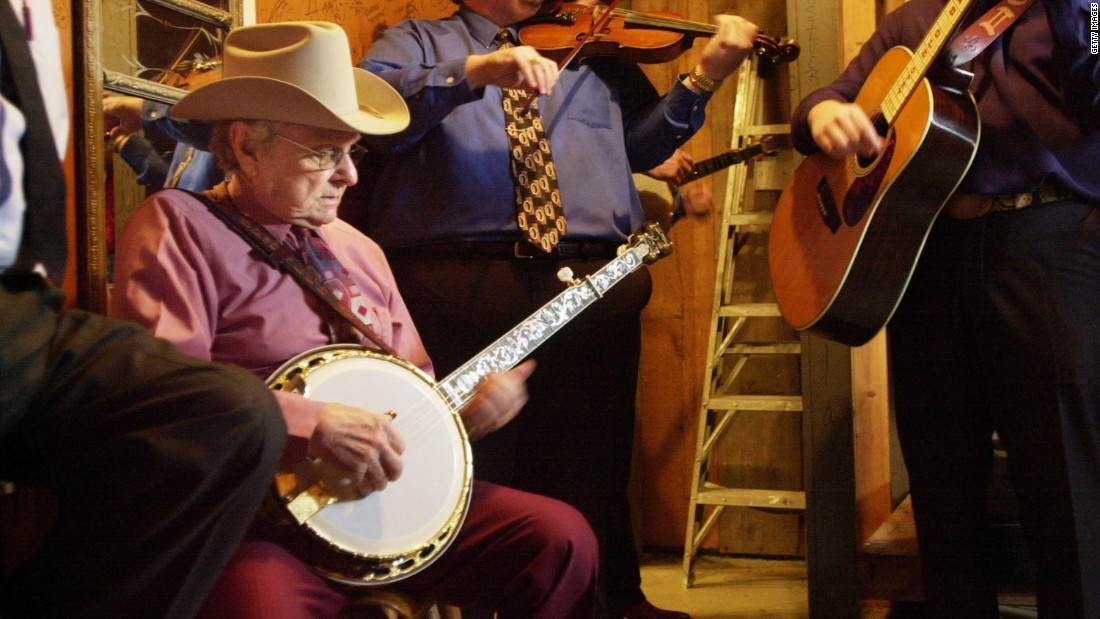 "Grammy nominee Ralph Stanley, on banjo, is considered one of the first generation bluegrass musicians. He began his career in 1946 in the Stanley Brothers, continued with the Clinch Mountain Boys, and finally as a solo act. He's best known for singing the song ""O Death"" in the Cohen Brothers movie ""'O Brother, Where Art Thou?"""