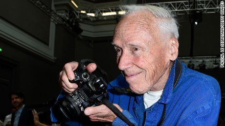 PARIS, FRANCE - SEPTEMBER 28: Photographer Bill Cunningham attends the Chloe show as part of the Paris Fashion Week Womenswear Spring/Summer 2015 on September 28, 2014 in Paris, France.  (Photo by Pascal Le Segretain/Getty Images)