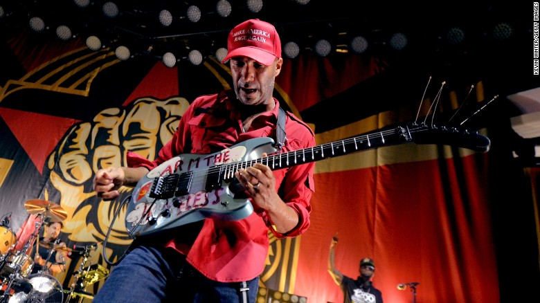 Tom Morello of Prophets of Rage performs onstage at Hollywood Palladium on June 3, 2016 in Los Angeles, California.