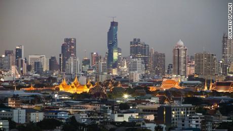 The Bangkok skyline with the MahaNakhon