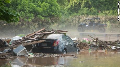 Photo taken in Jordan Creek in West Virginia during the area's flooding the weekend of 6/24/2016 - 6/27/2016