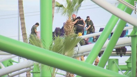 Riders rescued from coaster
