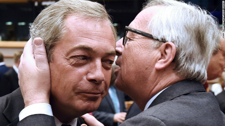 EU chief to Brexiter Nigel Farage: 'Why are you here?'