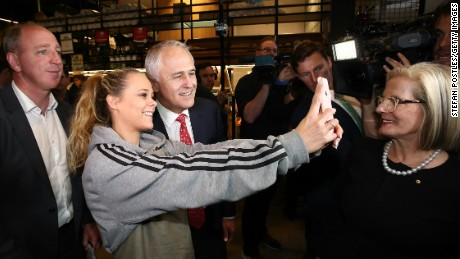 Prime Minister Malcolm Turnbull during the 2016 election campaign.