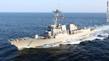 The guided-missile destroyer USS Gravely is seen August 2, 2012 in the Atlantic Ocean in this Navy handout.