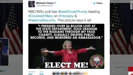 Trump aide clinton murderer tweet lv_00001326