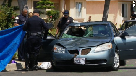 Woman accused of hitting man with car then driving a mile down road with deceased man lodged through windshield    Date Shot:  28 Jun 2016    Location Shot:  Oceanside, CA