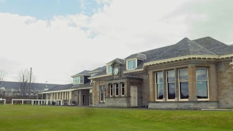 The clubhouse at Prestwick Golf Club.