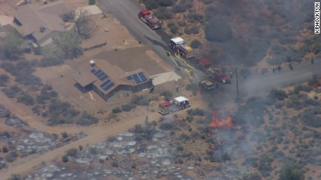 The Bug Creek Fire burning near Cordes Junction has forced evacuations in the area.