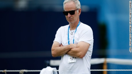 LONDON, ENGLAND - JUNE 12:  John McEnroe during a practice session for Milos Raonic at the Aegon Championships at Queens Club on June 12, 2016 in London, England.  (Photo by Joel Ford/Getty Images)