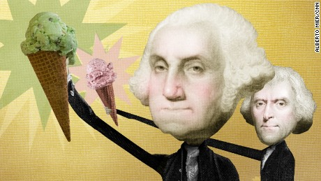 Washington and Jefferson helped bring ice cream to America.