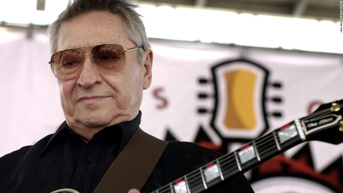 Scotty Moore, a legendary guitarist credited with helping to launch Elvis Presley's career, died at the age of 84 on Tuesday, June 28. Moore is a member of the Rock and Roll Hall of Fame, and he was ranked No. 29 in Rolling Stone's list of the 100 greatest guitarists.