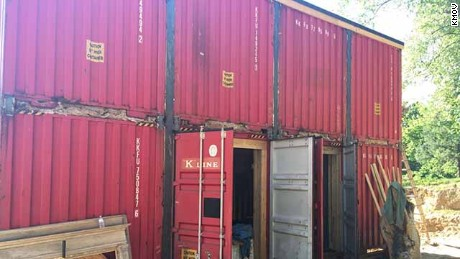 Couple built house from shipping containers