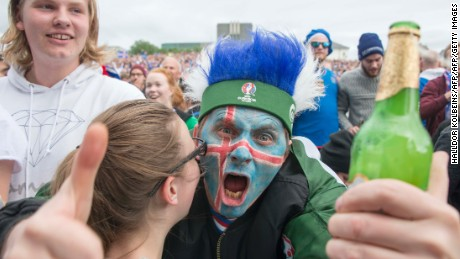 Fans have been watching the action unfold on big screens in Reykjavik.