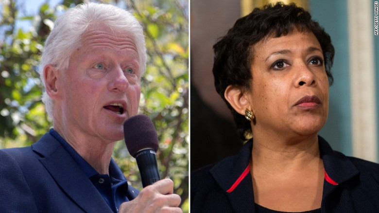Loretta Lynch addresses Bill Clinton meeting