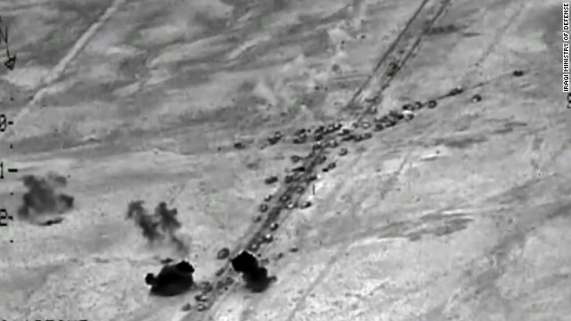 Iraq: Airstrikes hit convoy carrying ISIS militants out of Falluja