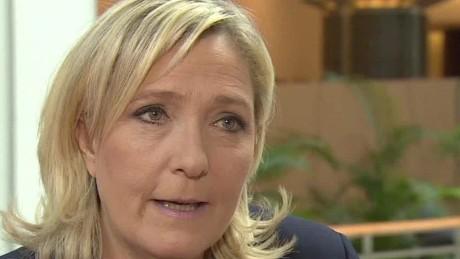 France le pen calls for france referendum intv_00003510