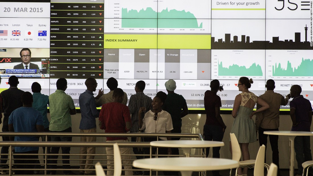 South Africa has close financial ties with the UK, with many companies listed on both the London and Johannesburg stock exchanges, making them vulnerable to turbulence in Britain.