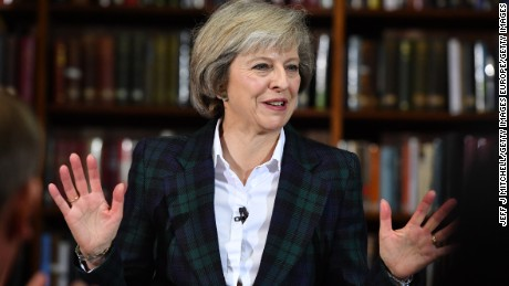 British Home Secretary Theresa May launches her bid to become the next Conservative leader.