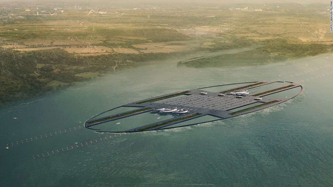 The scheme, put forward by architecture firm Gensler and Thames Estuary Research and Development (Testrad), would cost nearly $63 billion.
