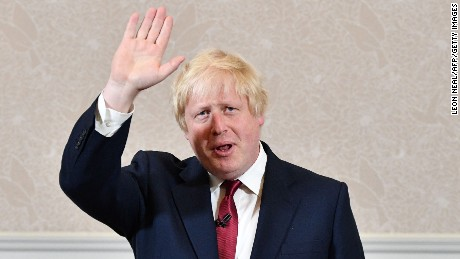 Brexit campaigner and former London mayor Boris Johnson prepares to leave after addressing a press conference in central London on June 30, 2016. Johnson said Thursday that he will not stand to succeed Prime Minister David Cameron.