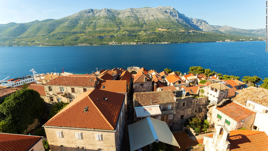 Rolling mountains, dramatic shorelines and scenic ancient towns have made Croatia's Dubrovnik and the Dalmatia region one of the world's hottest rivieras. Korcula (pictured here) is one of the islands dotting the region. Gallery images courtesy Croatia National Tourism Board.