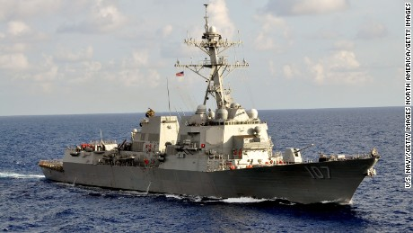 AT SEA - SEPTEMBER 25, 2011:  In this handout released by the U.S. Navy, the U.S. Navy guided-missile destroyer USS Gravely (DDG 107) is underway during the multinational UNITAS Atlantic 53-2012 exercise conducted in the western Caribbean Sea  September 25, 2011 at sea. In a response to a alleged chemical weapons attack on its own people by the Syrian regime the USS Mahan, the USS Barry, the USS Ramage, and the USS Gravely, all Arleigh Burke-class destroyers carrying Tomahawk land-attack missiles, are en route or in position in the eastern Mediterranean for a possible strike on Syrian military assets on August 28, 2013.  (Photo by U.S. Navy via Getty Images)