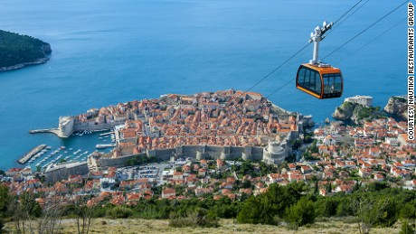 Restaurant Panorama, atop Mount Srd, provides an unobstructed view of Dubrovnik.