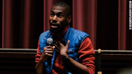 """Wesley Lowery (L) and Deray McKesson attend the """"Stay Woke: The Black Lives Matter Movement"""" screening on May 24, 2016 in New York City."""