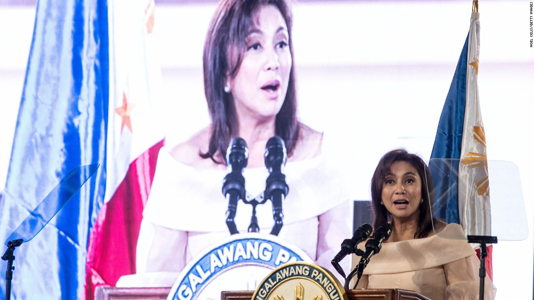 """Philippines <a href=""""http://cnnphilippines.com/news/2016/06/30/LOOK-Leni-Robredo-takes-oath-of-office-as-Vice-President-of-the-Philippines.html"""" target=""""_blank"""">Vice President Leni Robredo</a> also took the oath of office on Thursday, calling for unity across the country following what became a divisive election."""