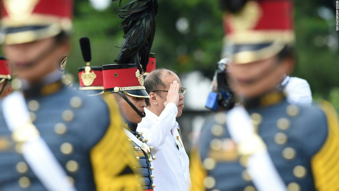 """Outgoing Philippines president Benigno Aquino (center), who was elected in 2010 for a six year term, told CNN Philippines he hoped he had left the Filipino population<a href=""""http://cnnphilippines.com/life/culture/politics/2016/05/12/pnoy-presidency.html"""" target=""""_blank""""> feeling empowered</a>."""