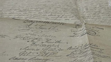 Man buys historic copy of Declaration of Independence