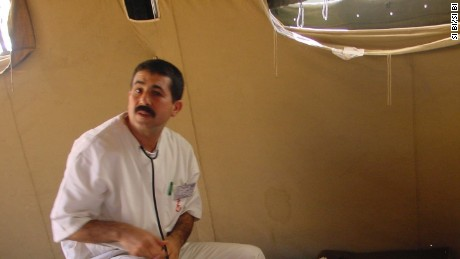 Dr. Fathi Bayoudh was part of a humanitarian mission in 2003 after an earthquake in northern Algeria.