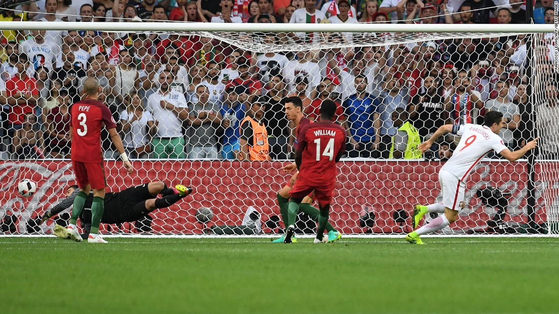 Poland's star forward, Robert Lewandowski, opened the scoring in the second minute. It was the second-fastest goal in the history of the European Championship.