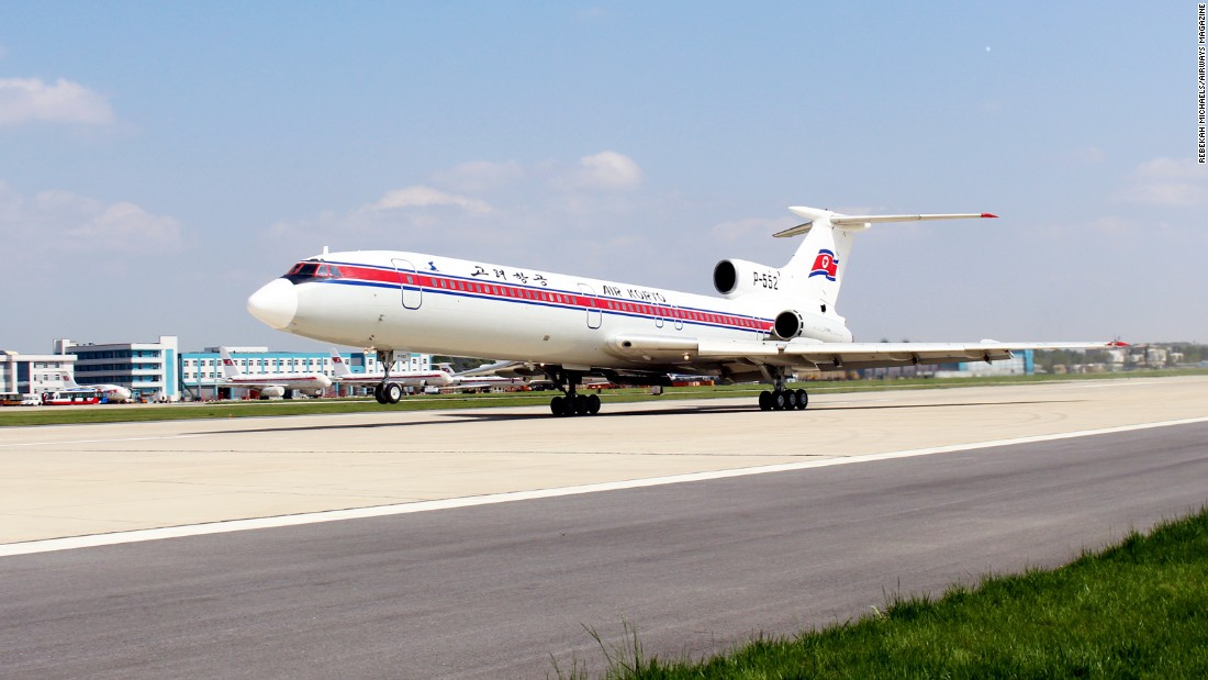 Another aviation highlight: this Russian-made Air Koryo Tupolev Tu-154. The three-engined, T-tail aircraft flew for the first time in 1968. It became one of the most successful Russian airliners ever produced and Air Koryo's first jetliner.