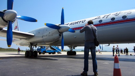 The group broke out in applause when the airport bus dropped us off in front of the majestic Ilyushin Il-18.