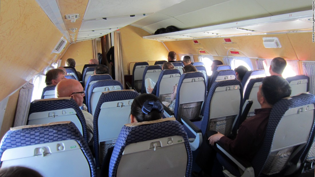 The 18's cabin was not only wide and comfortable, but the seat pitch on every row was more than generous.
