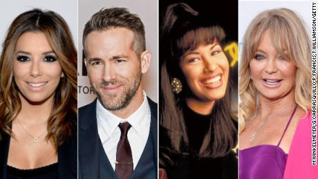 Eva Longoria, Ryan Reynolds, Selena Quintanilla and Goldie Hahn will get stars on the Hollywood Walk of Fame in 2017.