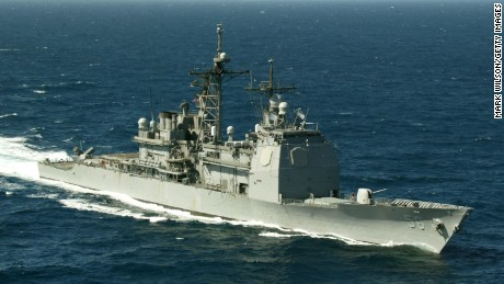 The USS San Jacinto cruises the Red Sea March 16, 2003.