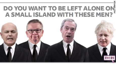 Faces of the Leave campaign