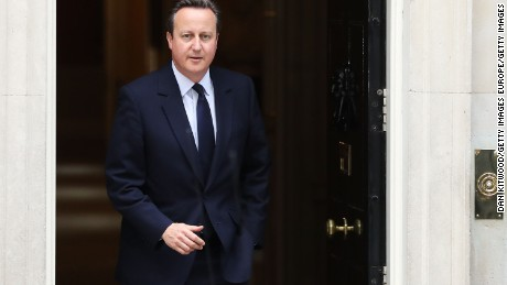 LONDON, ENGLAND - JUNE 27:  Prime Minister, David Cameron leaves 10 Downing Street following a cabinet meeting on June 27, 2016 in London, England. British Prime Minister David Cameron chaired an emergency Cabinet meeting this morning, after Britain voted to leave the European Union. Chancellor George Osborne spoke at a press conference ahead of the start of financial trading and outlining how the Government will 'protect the national interest' after the UK voted to leave the EU.  (Photo by Dan Kitwood/Getty Images)