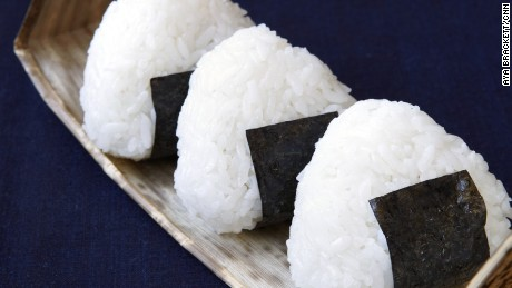"""Rice """"sandwiches"""" are a popular travel snack."""