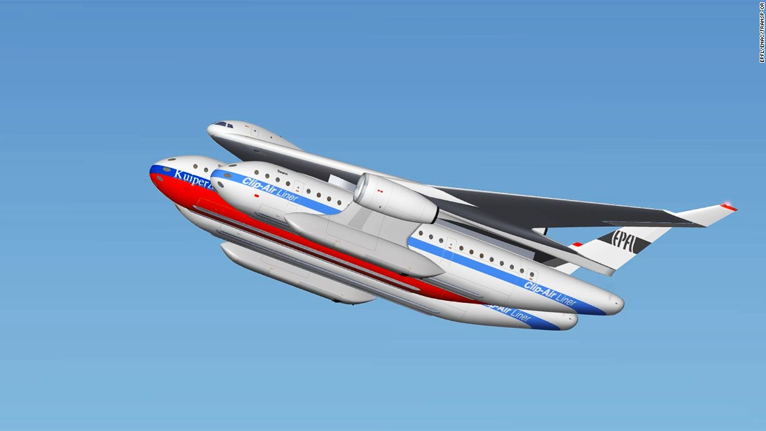 Clip-Air's speed and range is expected to be on a par with that of modern mid-sized airliners.