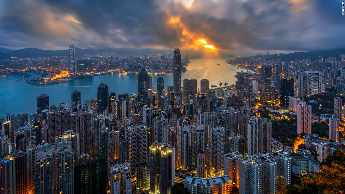 """Over-photographed, maybe, but we still can't get enough of it. Hong Kong-based photographer Andy Yeung snapped this beautiful pic of Victoria Harbor during golden hour. Click <a href=""""/2016/04/25/travel/aerial-hong-kong-photography/index.html"""" target=""""_blank"""">here</a> for his tips on how to capture Hong Kong in beautiful, original shots. Visit his <a href=""""http://www.andyyeungphotography.com/"""" target=""""_blank"""">website</a> for more of his work."""